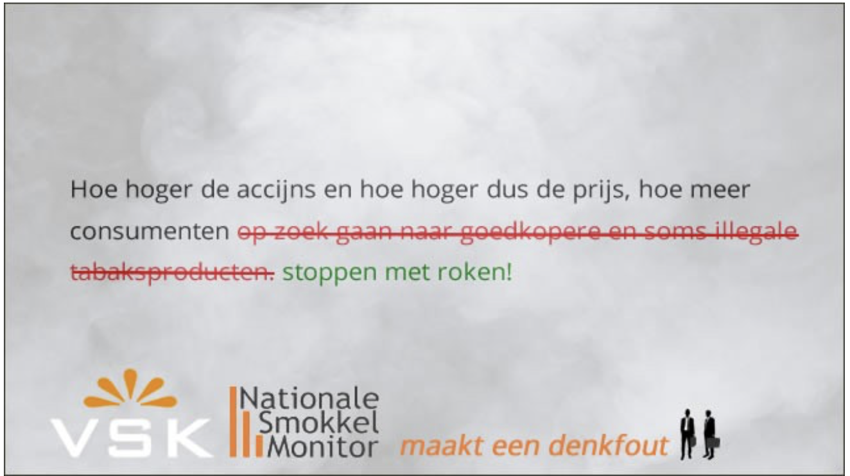 Nationale Smokkel Monitor voert misleidend anti-accijnsoffensief